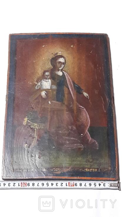Икона Божьей Матери с Иисусом.( сюжетная), фото №2