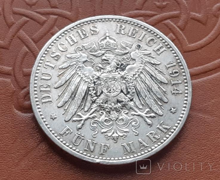 5 марок 1914 Пруссия, фото №5