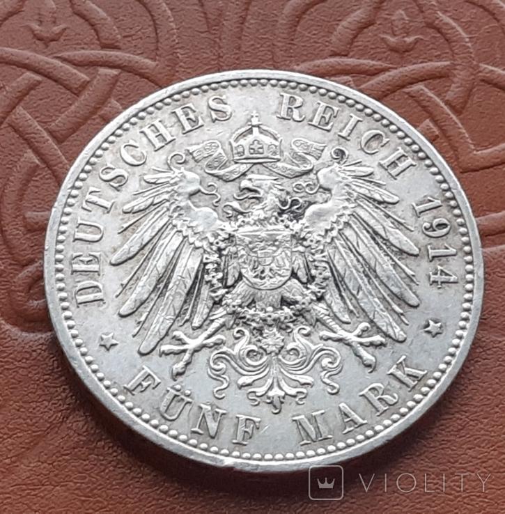 5 марок 1914 Пруссия, фото №6