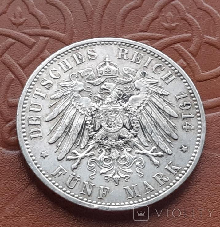 5 марок 1914 Пруссия, фото №7