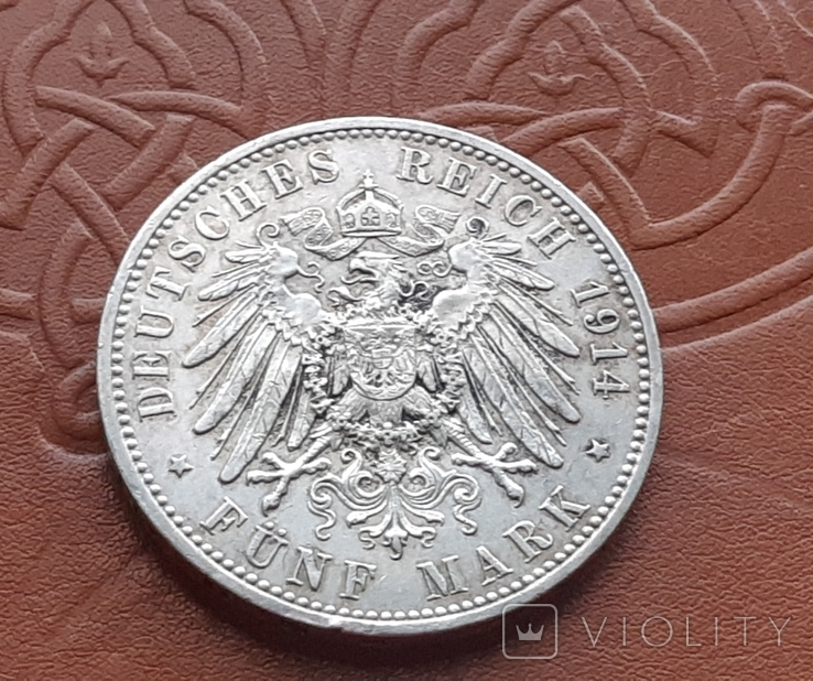 5 марок 1914 Пруссия, фото №8