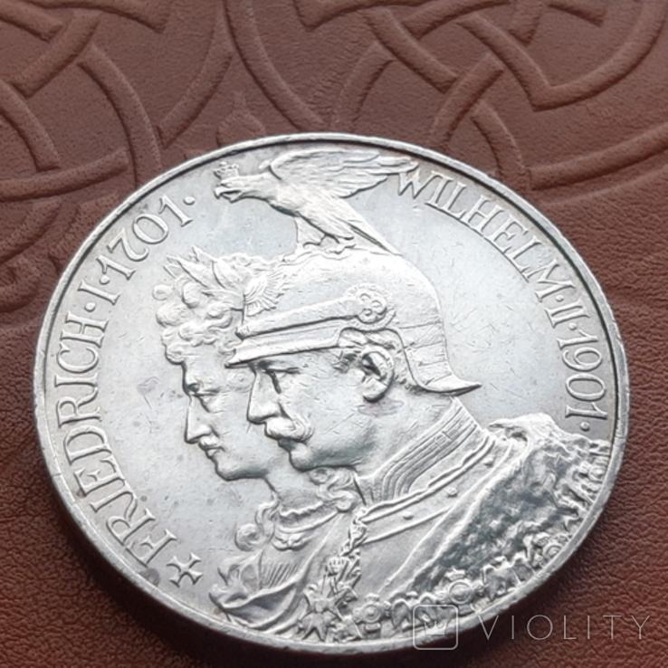 Німецька імперія5марок,1901 р 200-та річниця - Королівство Пруссія Пруссия, фото №3