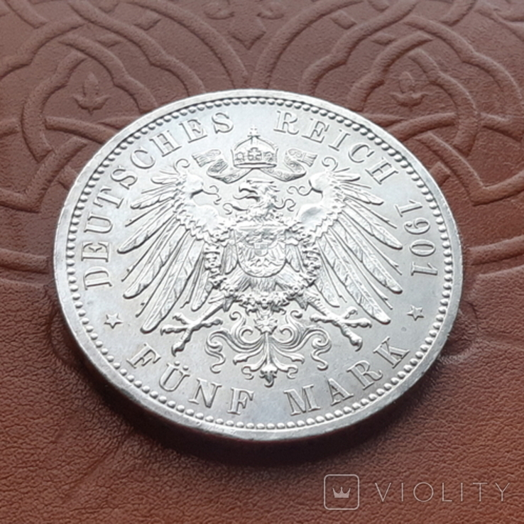 Німецька імперія5марок,1901 р 200-та річниця - Королівство Пруссія Пруссия, фото №6