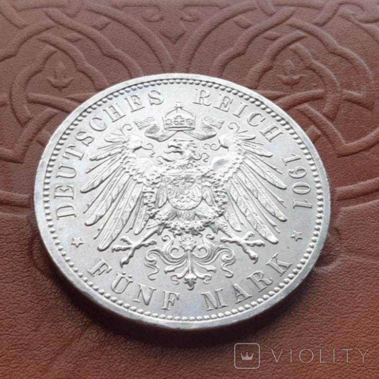 Німецька імперія5марок,1901 р 200-та річниця - Королівство Пруссія Пруссия, фото №8
