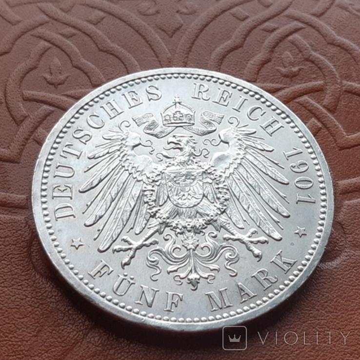 Німецька імперія5марок,1901 р 200-та річниця - Королівство Пруссія Пруссия, фото №9