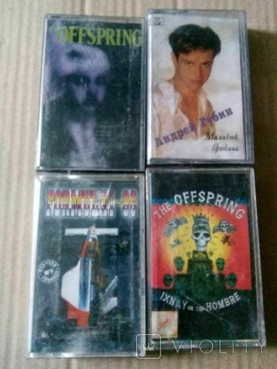 4 кассеты (офспринг 2шт,губин,сборник ), фото №2