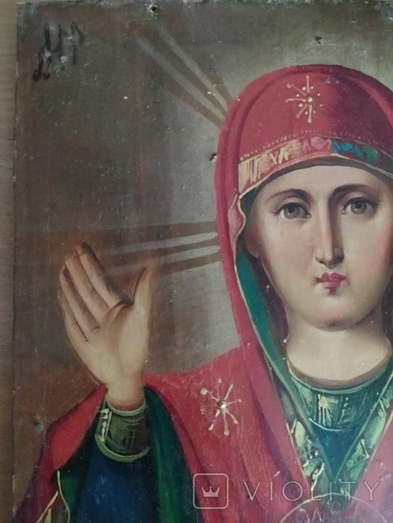 Икона Знамение Пресвятой Богородицы (Богоматерь Знамение) Размер 23 на 30 см, фото №4