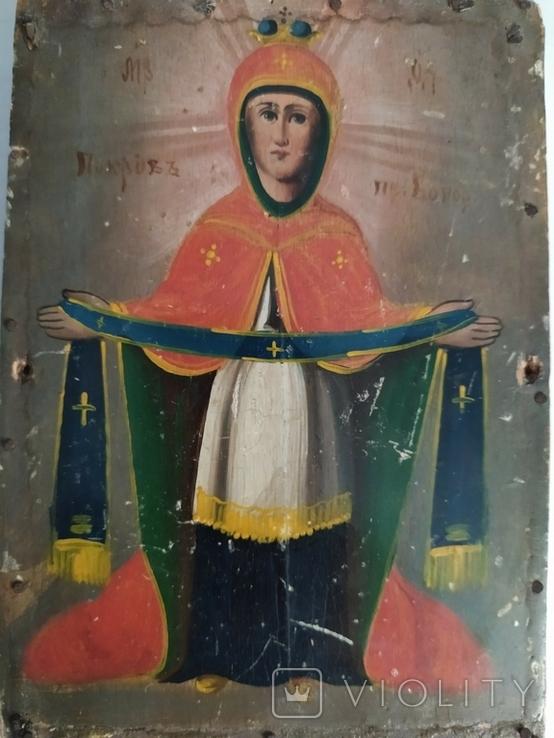 Икона Покровы дерево 12 на 17 см, фото №4