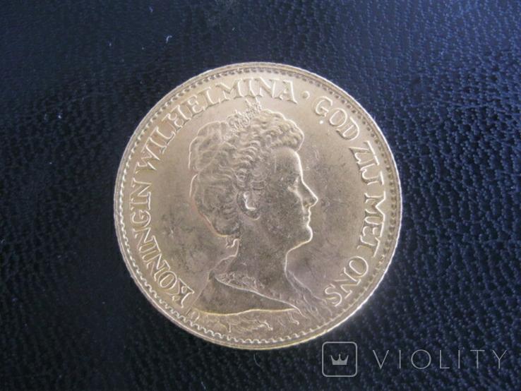 10 гульденов. 1917. Вильгельмина. Нидерланды, фото №3