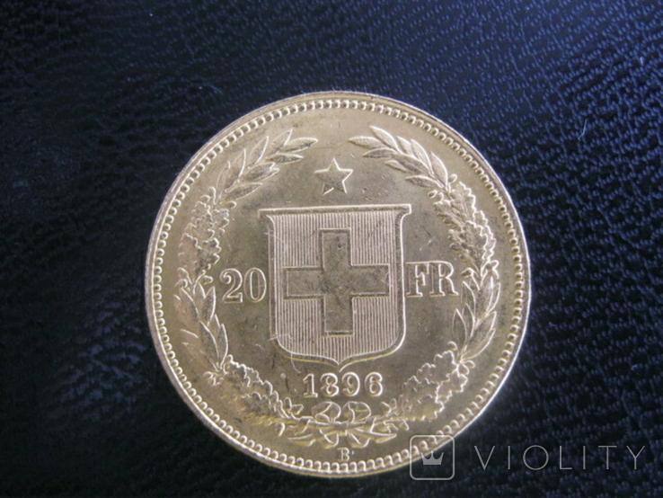 20 франков 1896 год Швейцария, фото №3