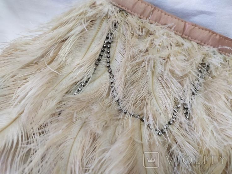 Фирменная сумочка Karen Millen с перьями страуса. Англия. Без ручки 22х18см, фото №5