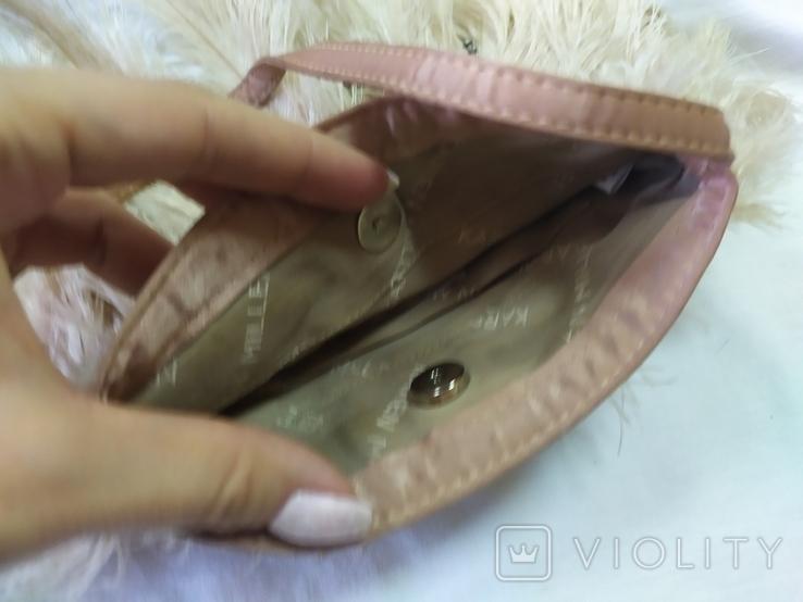 Фирменная сумочка Karen Millen с перьями страуса. Англия. Без ручки 22х18см, фото №10