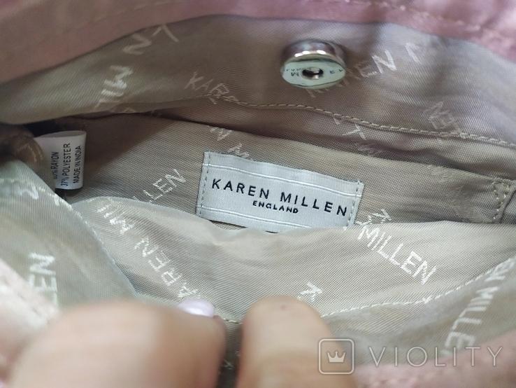 Фирменная сумочка Karen Millen с перьями страуса. Англия. Без ручки 22х18см, фото №11