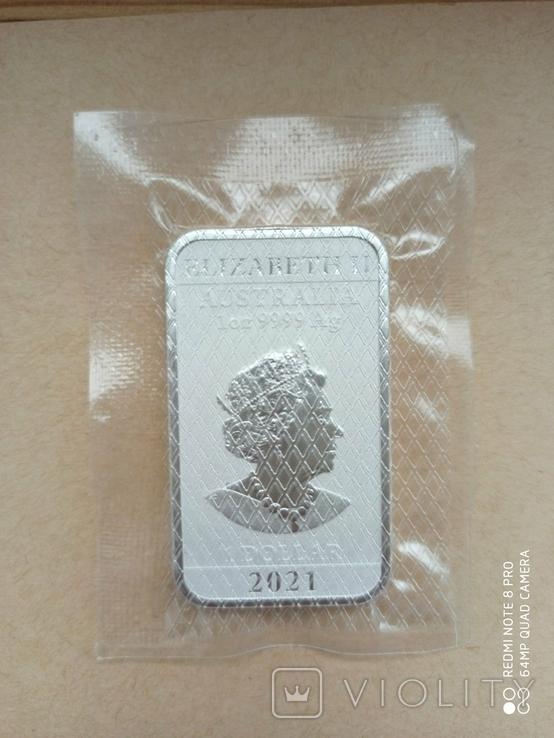 Срібний злиток Дракон 2021 Австралія 1 унція, фото №8