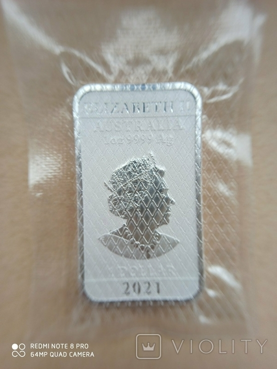 Срібний злиток Дракон 2021 Австралія 1 унція, фото №10
