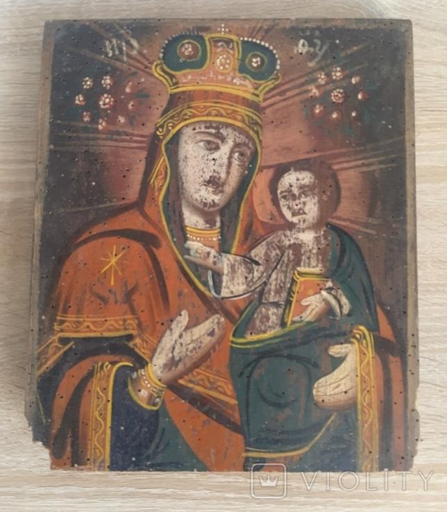 Икона Божией Матери, на реставрацию, фото №2