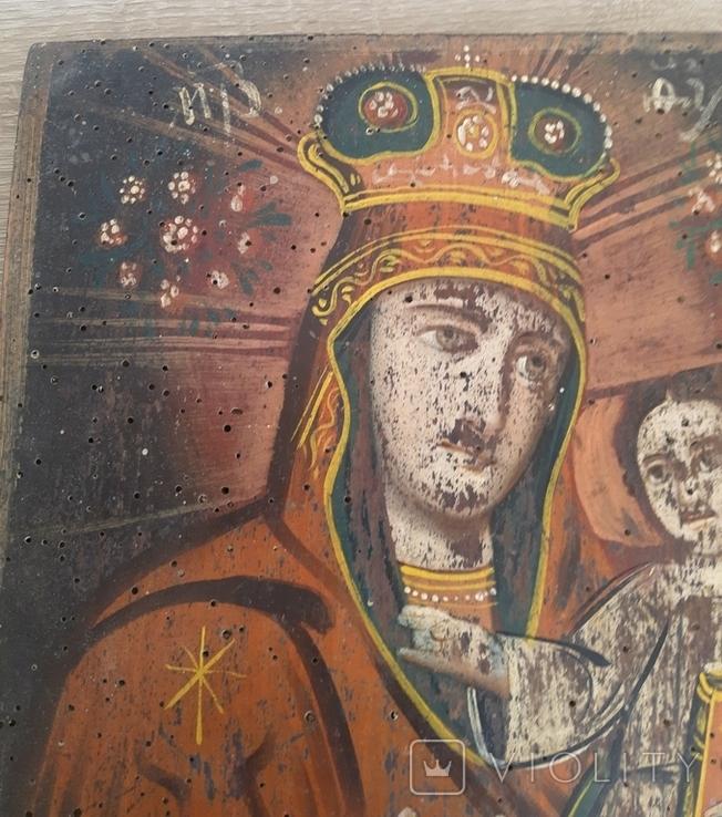 Икона Божией Матери, на реставрацию, фото №3
