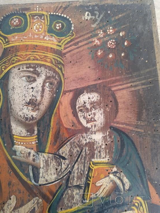 Икона Божией Матери, на реставрацию, фото №4