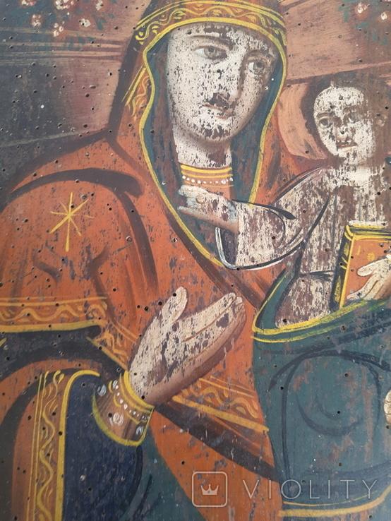 Икона Божией Матери, на реставрацию, фото №5