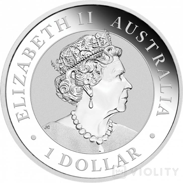 Австралійський Ему 2020 1 унція срібла, фото №3
