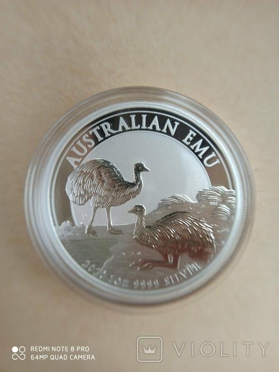 Австралійський Ему 2020 1 унція срібла, фото №6