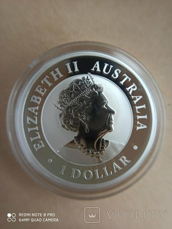 Австралійський Ему 2020 1 унція срібла, фото №7