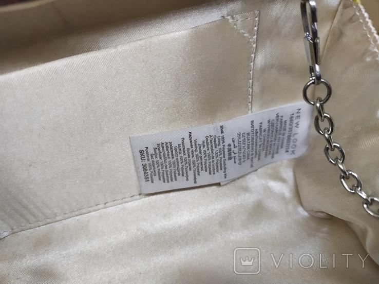 Сумочка на длинной цепочке или клатч. Шелк и металл. 20х10см, фото №12