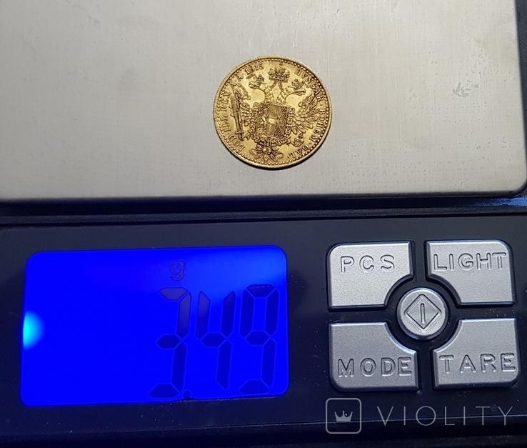 1 дукат 1915 року Австрія, 3,49 грам 986`, фото №3