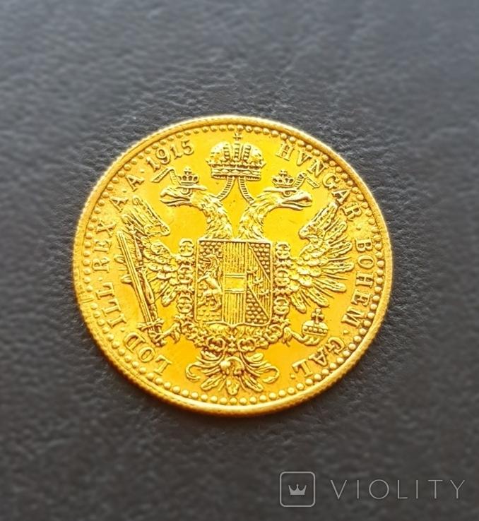 1 дукат 1915 року Австрія, 3,49 грам 986`, фото №4