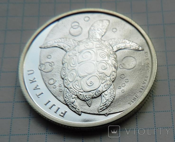 2 доллара 2011 года Фиджи черепаха (8), фото №3