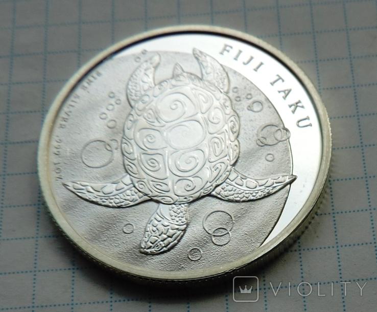 2 доллара 2011 года Фиджи черепаха (8), фото №4