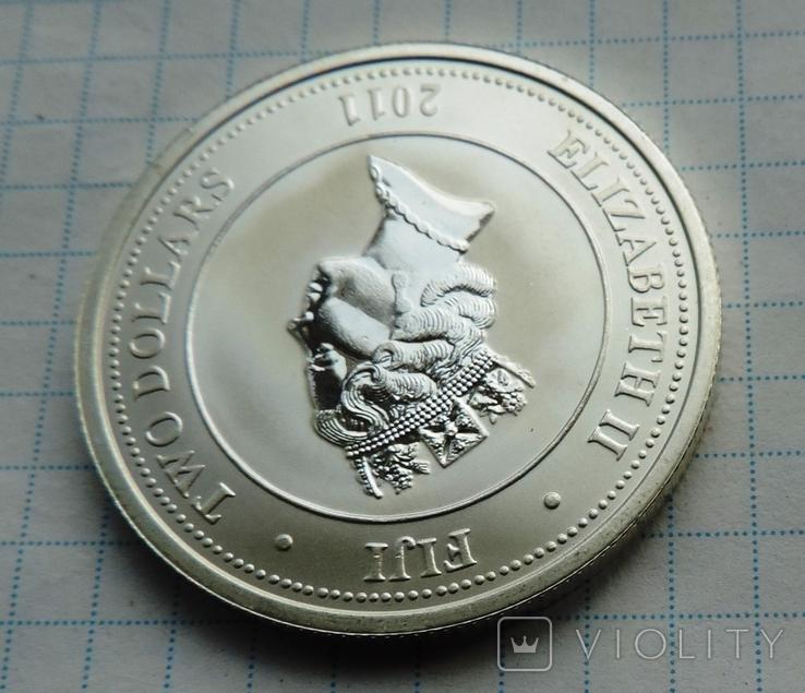 2 доллара 2011 года Фиджи черепаха (8), фото №7