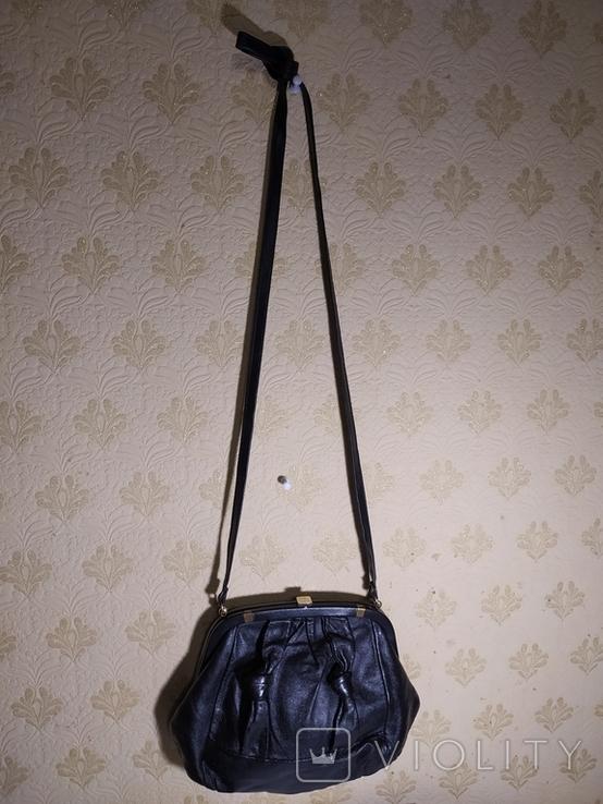 Сумка женская кожаная Европа 60-е года. 3, фото №6