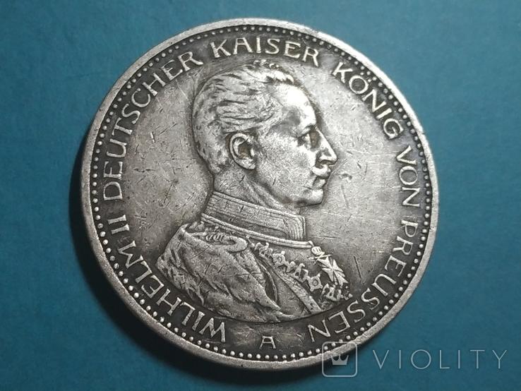 Германская империя 5 марок, 1914 год (А), фото №2