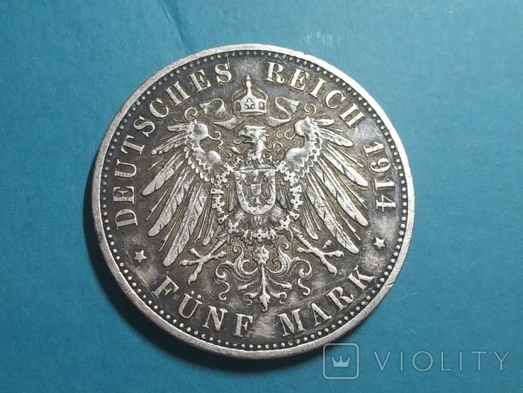 Германская империя 5 марок, 1914 год (А), фото №3