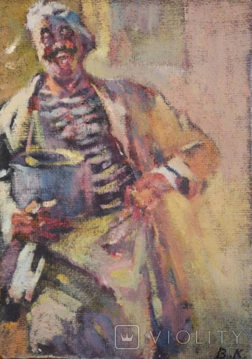 "1985,В.Кнышевский ""Кок"",х.м.35*25см, фото №2"