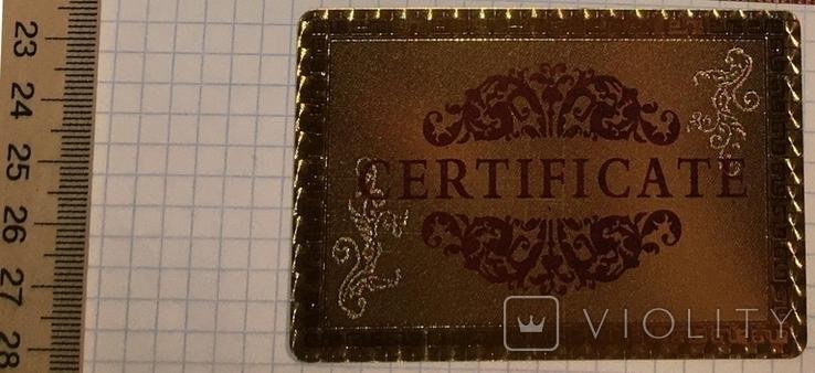 Позолоченная сувенирная банкнота 1000 Euro в подарочном конверте + сертификат / сувенір, фото №10