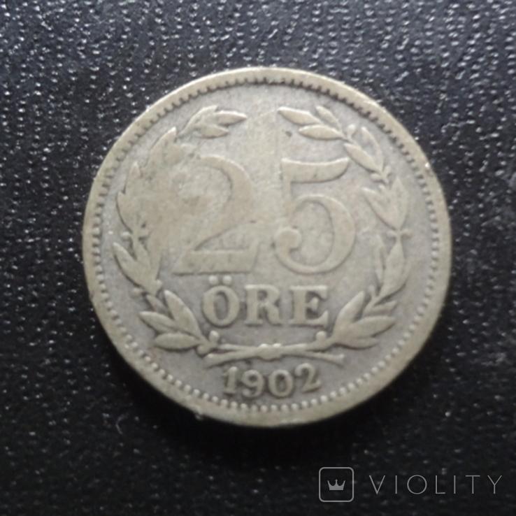 25 эре 1902 Швеция серебро (П.1.1), фото №2