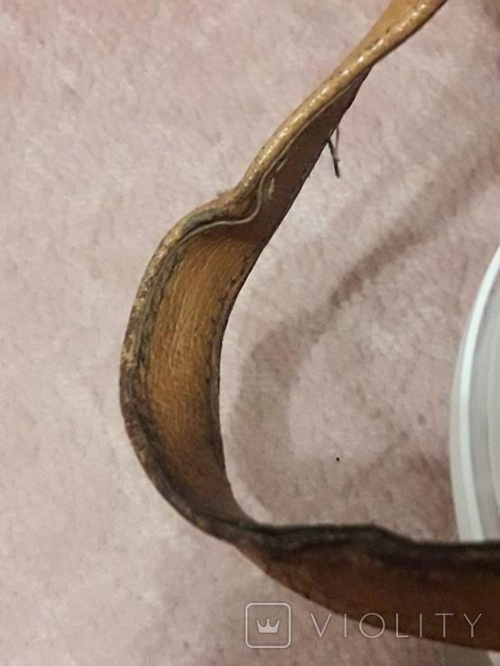 Дамская сумочка ридикуль тиснённая кожа 40 - 50-е, фото №10