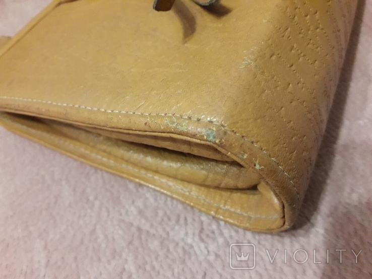 Дамская сумочка ридикуль тиснённая кожа 40 - 50-е, фото №12