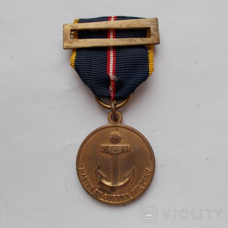 Перу. Медаль за участие в морском сражении комбатантов на внешнем фронте., фото №2