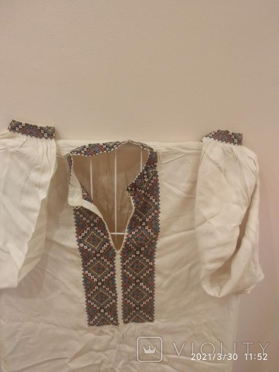 Старинная мужская вышиванка (довоенная ), ручная работа, фото №7