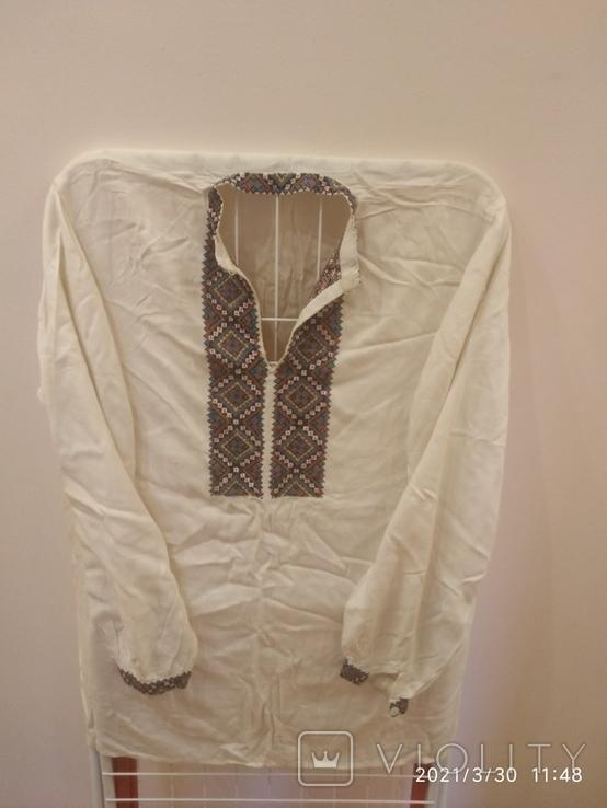 Старинная мужская вышиванка (довоенная ), ручная работа, фото №10