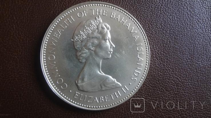 2 доллара 1971 Багамы серебро (Ю.4.4)~, фото №4