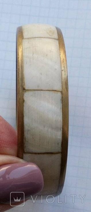 Браслет латунный со вставками перламутра., фото №8