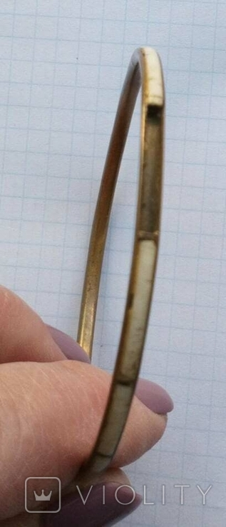 Браслет Бронза с перламутровыми вставками ( тоненький 3.5 мм), фото №9