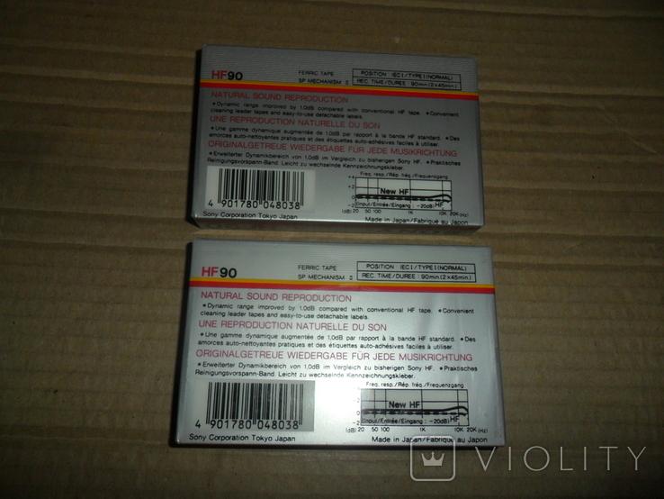 Аудиокассета 2 шт в лоте Sony HF-90 новые запечатанные кассеты, фото №3