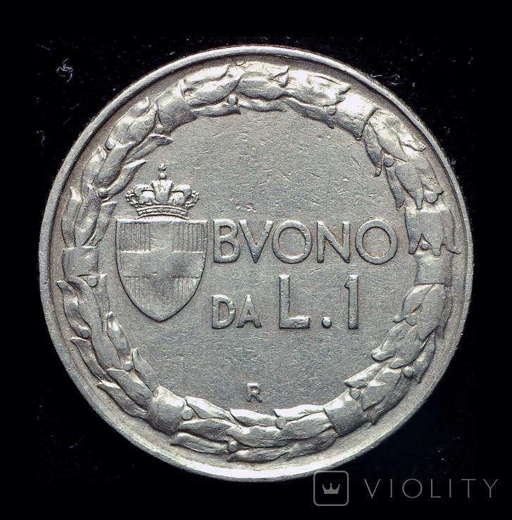 Италия 1 лира 1922, фото №3