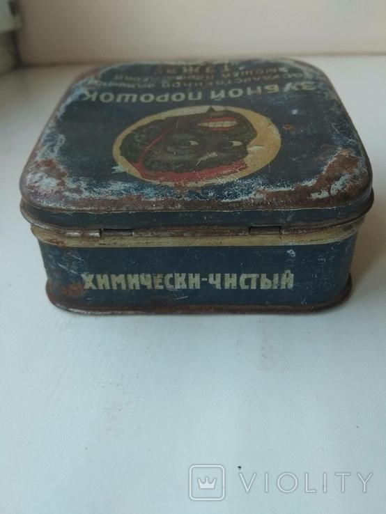 Жестяная банка зубной порошок., фото №6