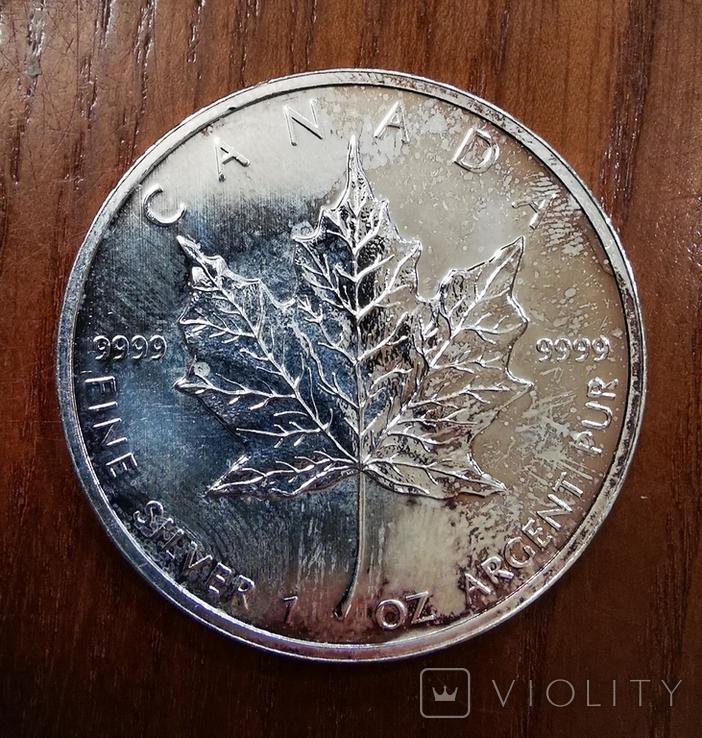 Долларов 2011, Канада лист, 1oz, фото №2